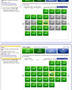 PDX-SAN, Plenty of open award seats