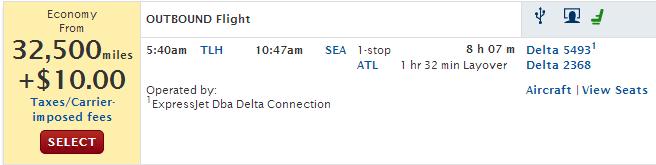Delta Return TLH-SEA