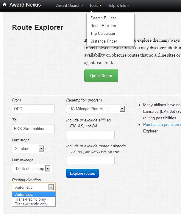 Route Explorer