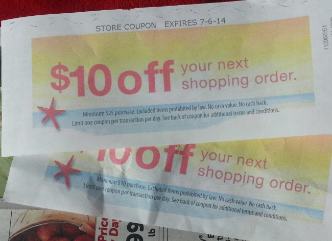 The coupon on the top is from Today, the one on the bottom from last week.