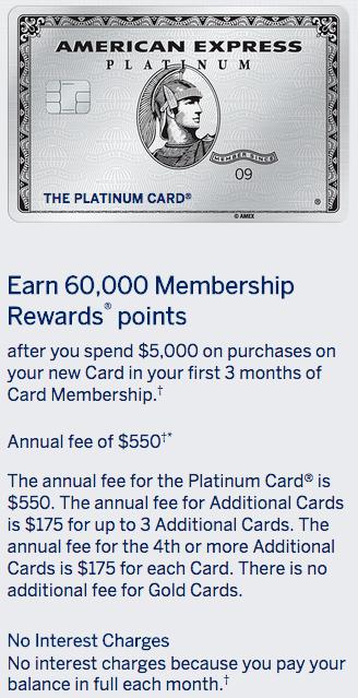 Amex Platinum 60,000